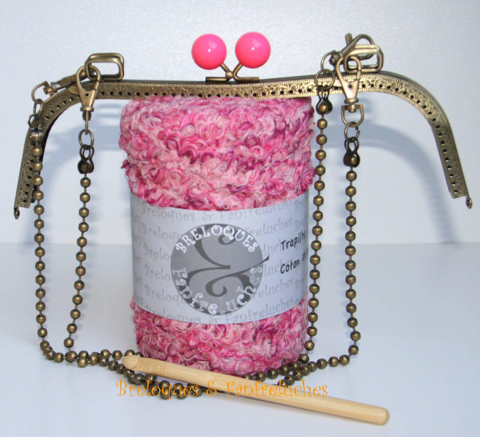Trapilho - Kit Crochet - Sac à Main Coton Bouclé - Ref. KSM_024