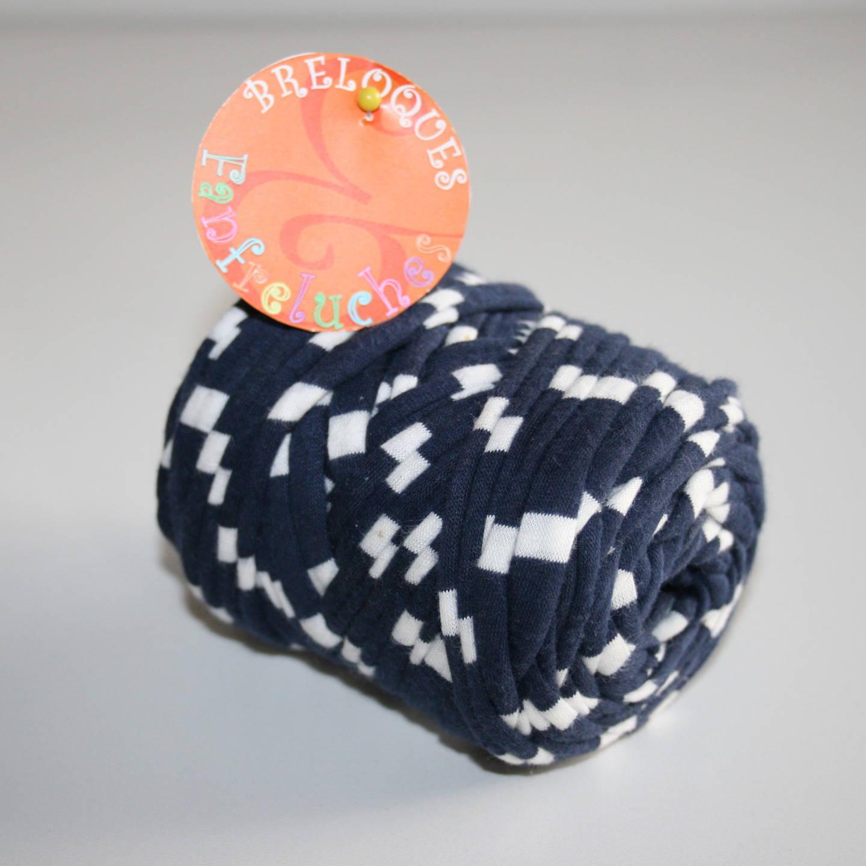 Trapilho - Mini rouleau, Rayé - Bleu Marine/Blanc - Ref. BB020
