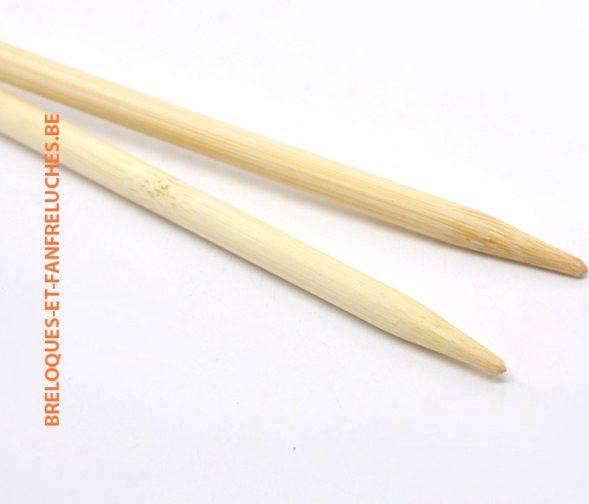 Aiguilles à tricoter en bambou - n°8, 23 cm pour trapilho ou gros fils