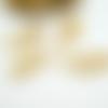 4 breloques feuille 22*11mm doré (8sbd184)