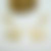 2 pendentifs géométriques forme triangle 50*25mm doré, breloques graphiques or (kbd12)