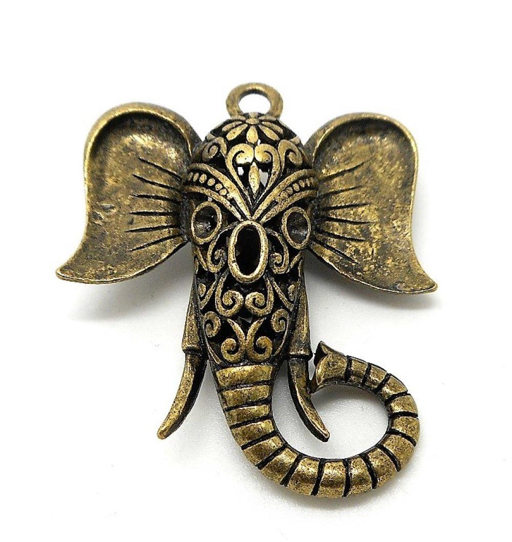 Pendentif ou breloque elephant 3d bronze