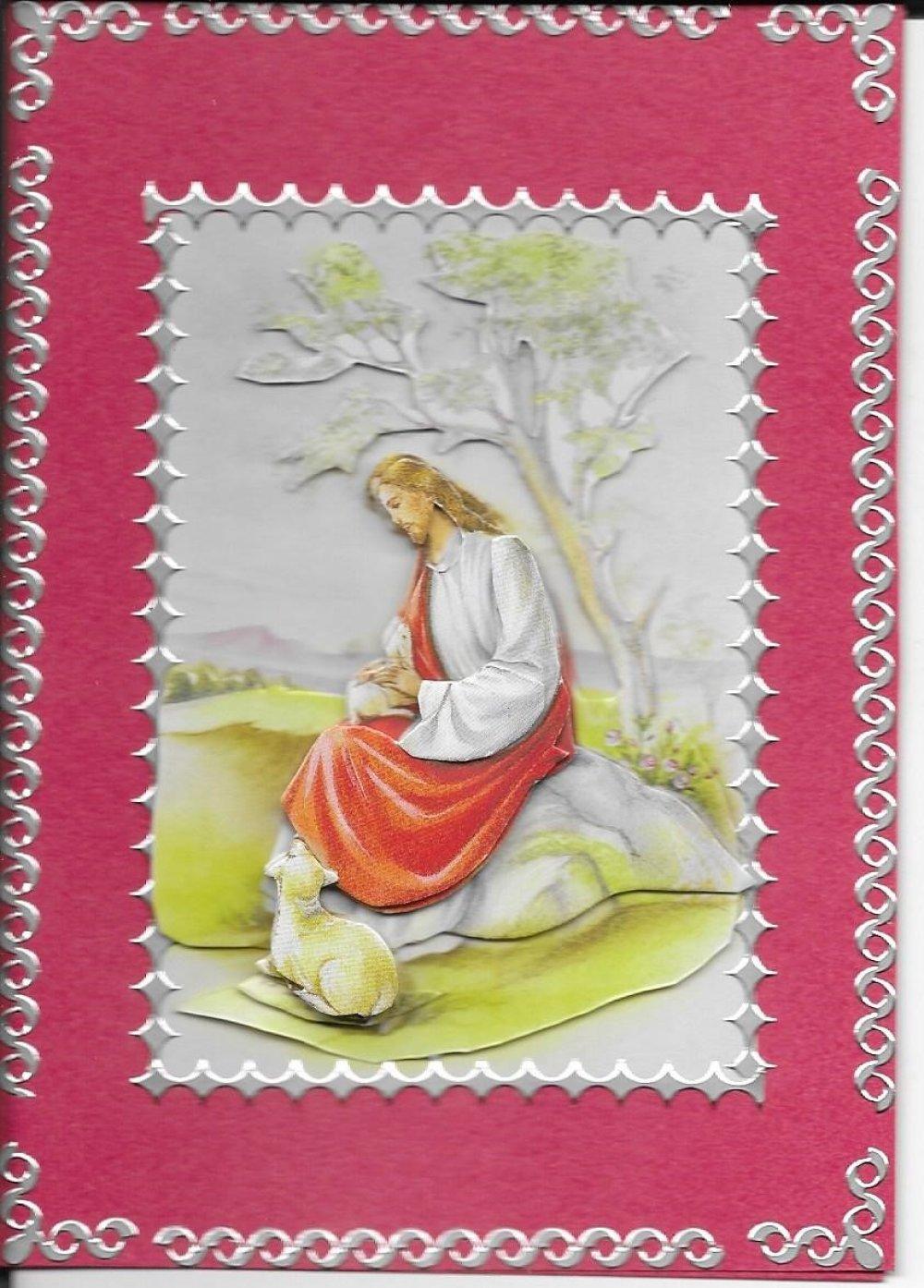 Carte Pâques. PAQ 126