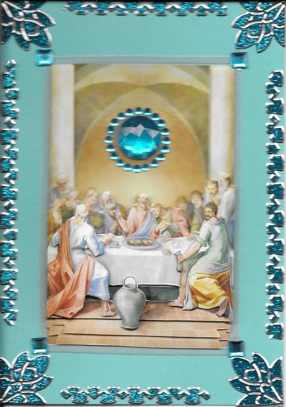Carte Pâques. PAQ 123