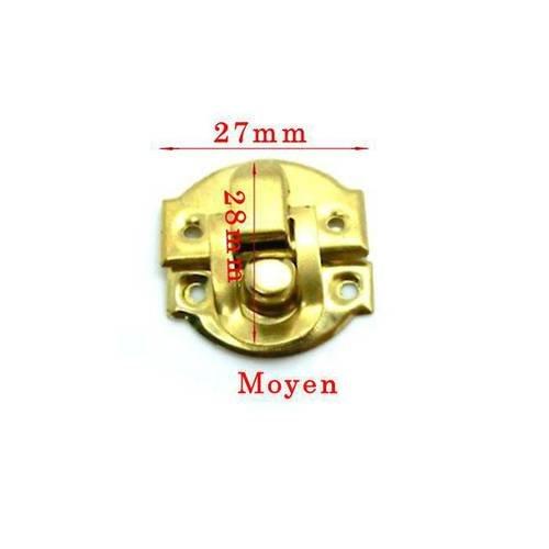 Fermeture boite doré modèle moyen taille 27x28mm  en 2 parties.unitaire . n°307