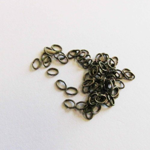 200 anneaux ouverts, ovales, 4.5*3 mm, bronze,