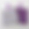 N°7  2 lingettes  démaquillantes lavables une face coton fleurs  fond écru une face éponge violette