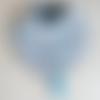 N°9 bavoir bandana motif  chouette avec un lien pour accrocher sucette ou anneau de dentition