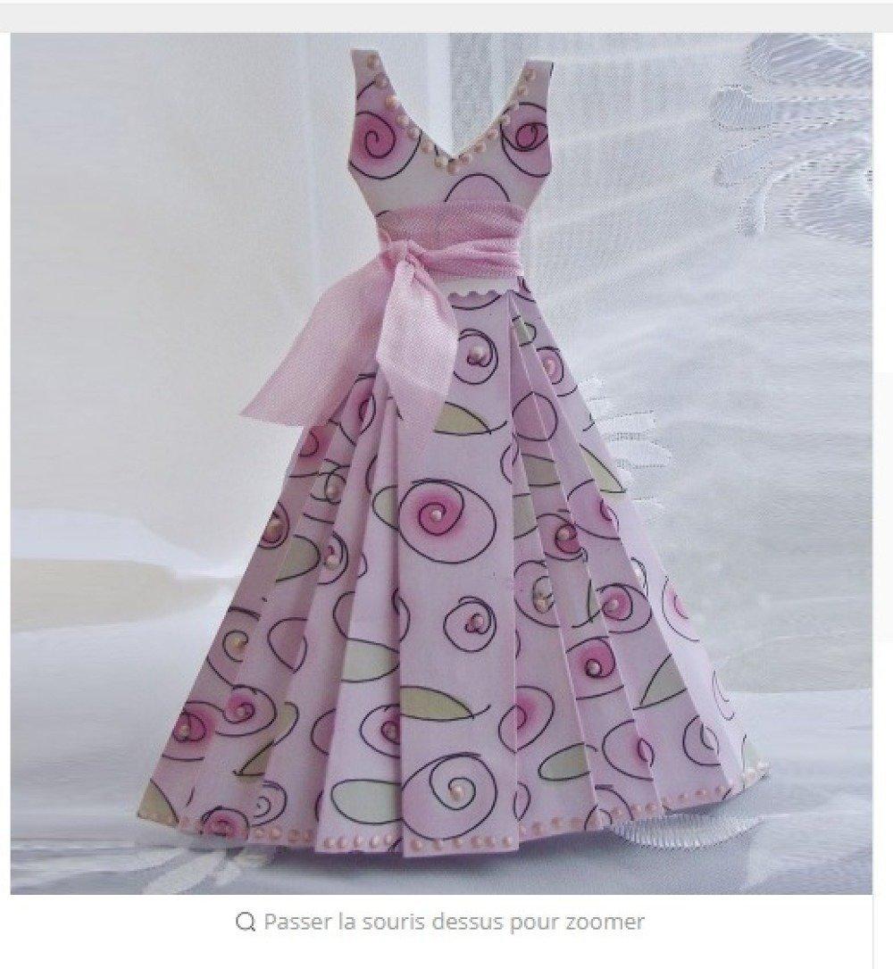 n°1039 robe à composer choix de 3 hauts   en papier   découpage  fin