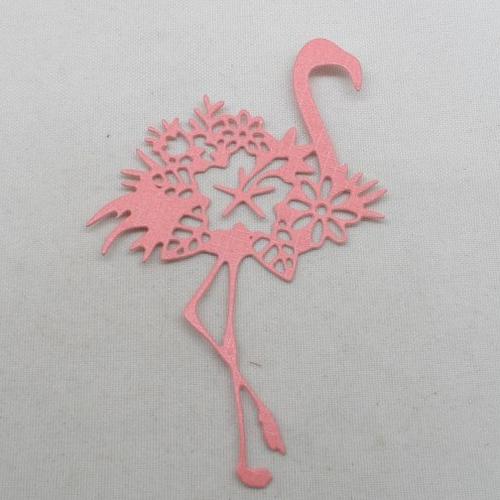 N°1336   joli flamant  avec une fleur   en papier rose n°5