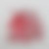 N°1328 tête de  licorne avec des fleurs en papier rouge irisé