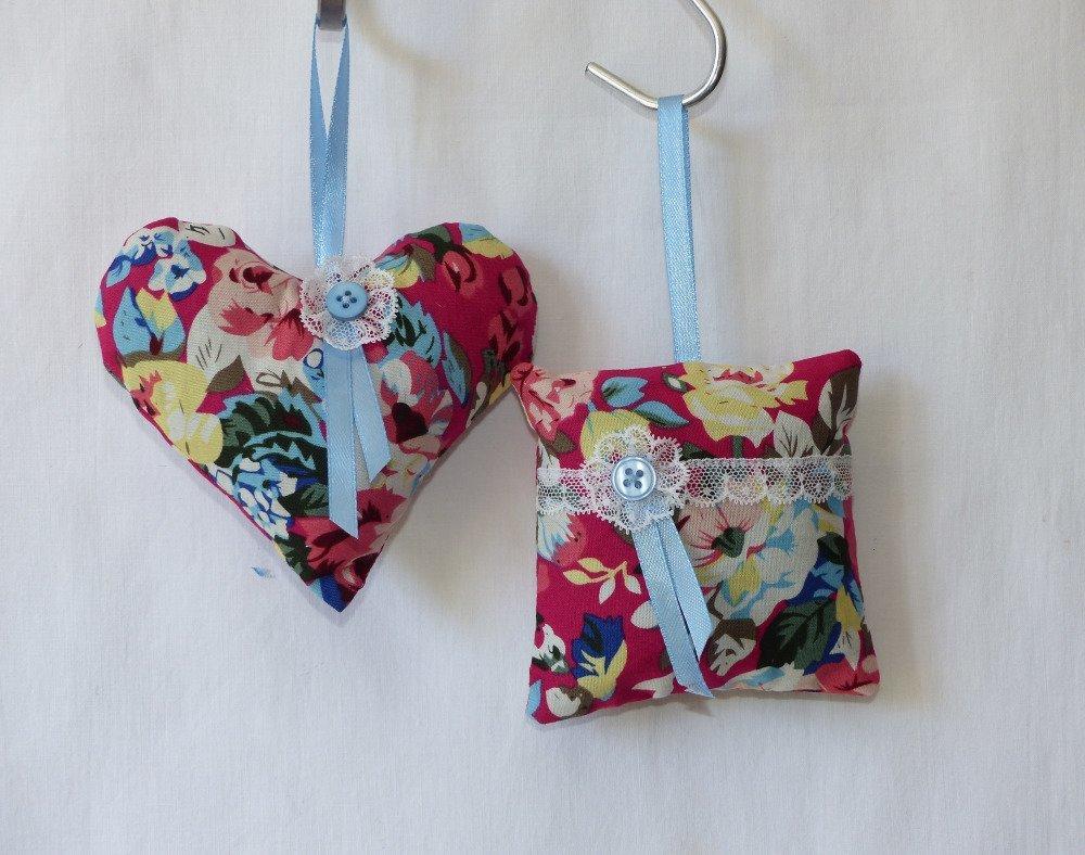 Coeur décoratif à suspendre style shabby, vintage