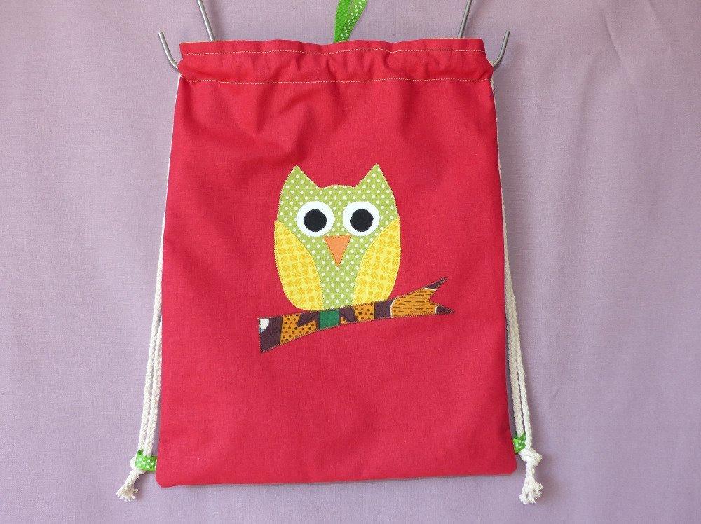 Sac à dos enfant hibou, sac à dos maternelle, sac à goûter