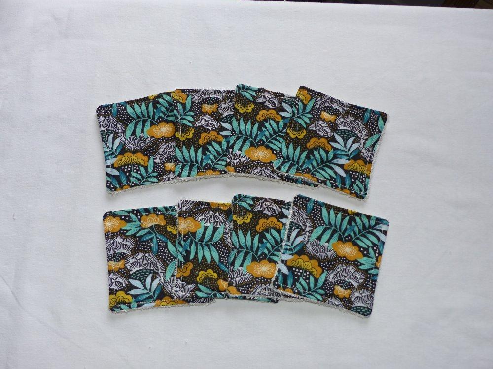 Lot de 8 lingettes démaquillantes en tissu japonais