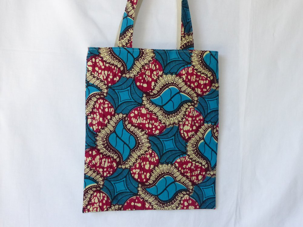 Tote bag, sac en tissu wax africain