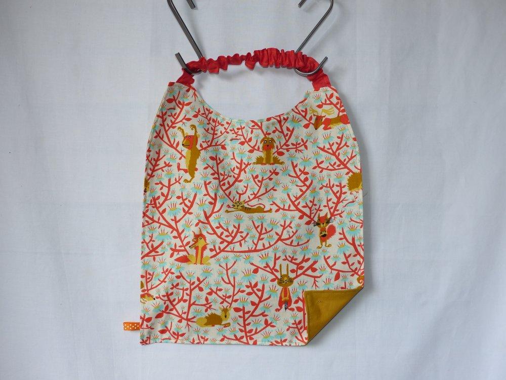 Serviette de cantine élastiquée, serviette de table enfant