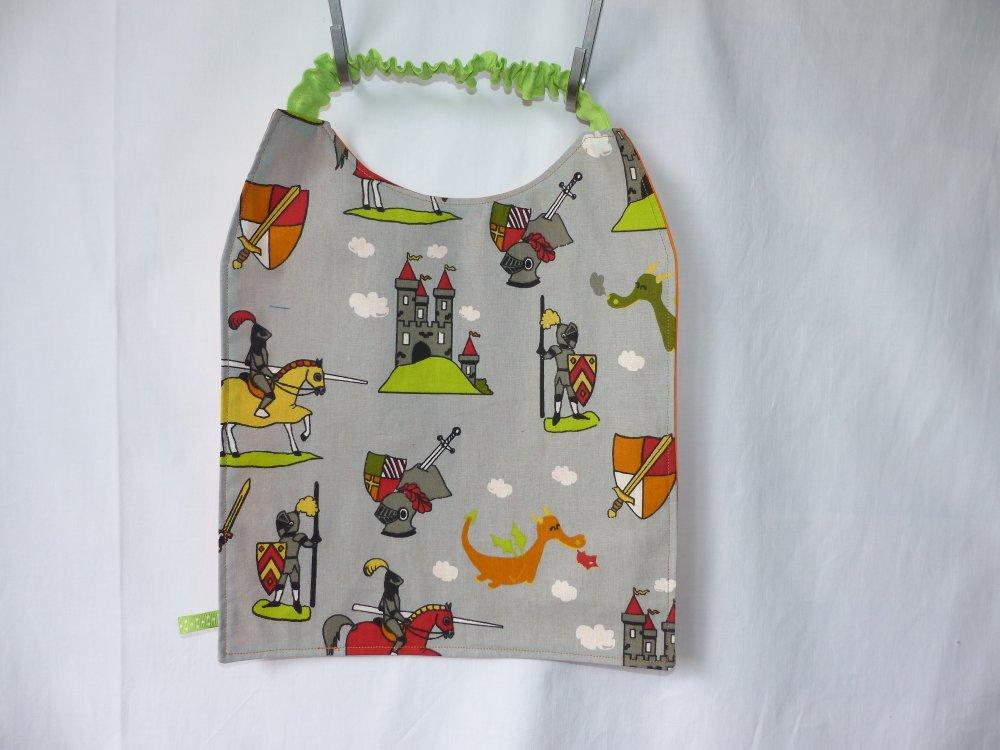 Serviette de table enfant élastiquée, serviette de cantine, grand bavoir