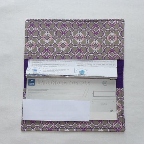 Porte-chéquier en tissu original, protège chéquier