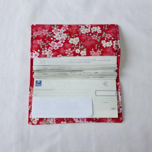 Porte-chéquier en tissu japonais, protège chéquier