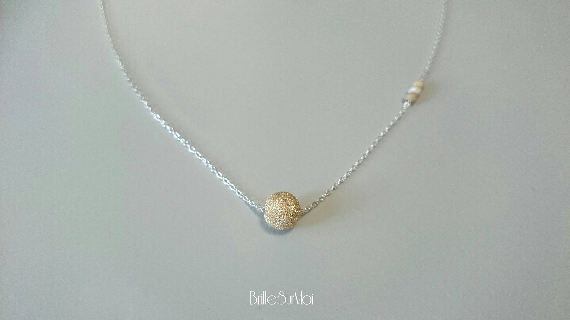 collier argent 925 perle