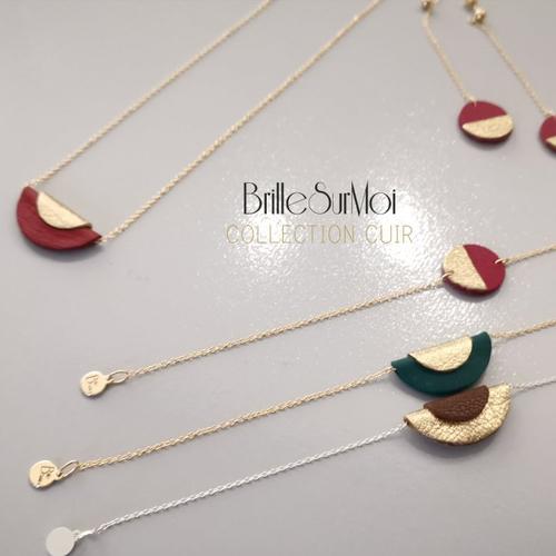 Bracelet or gold filled or 14k cuir brillesurmoi