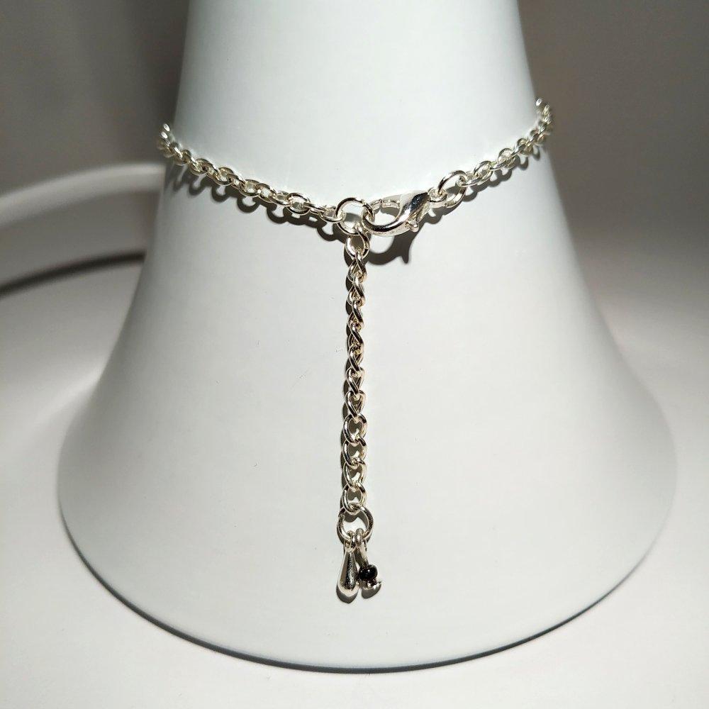 Bracelet argentées violet
