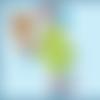 Doudou chien plat à personnaliser prénom bleu