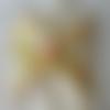 Protège-slip lavable  bulles sur fond jaune curry, à l'unité