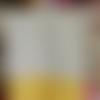 Essuie-mains pop art et jaune en coton et nid d'abeille