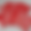 """Lingettes lavables écologiques """"oiseaux et pois"""" sur fond rouge"""