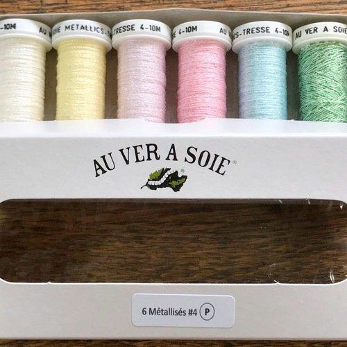 Pack fil métallisé  pastel