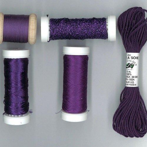 Pack découverte soie mélange violet