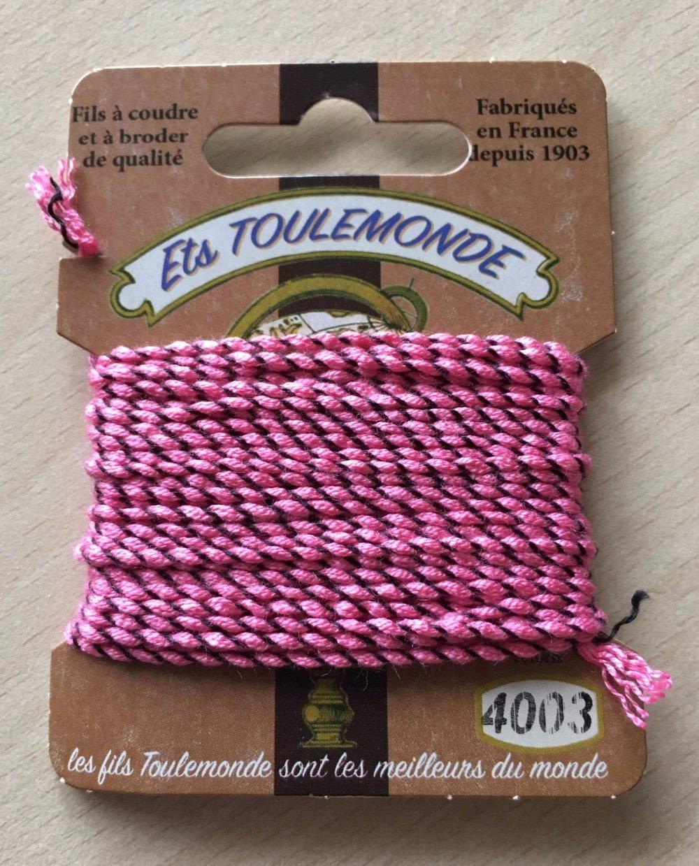 fil cordelette guipé Rochefort 4003 rose marron