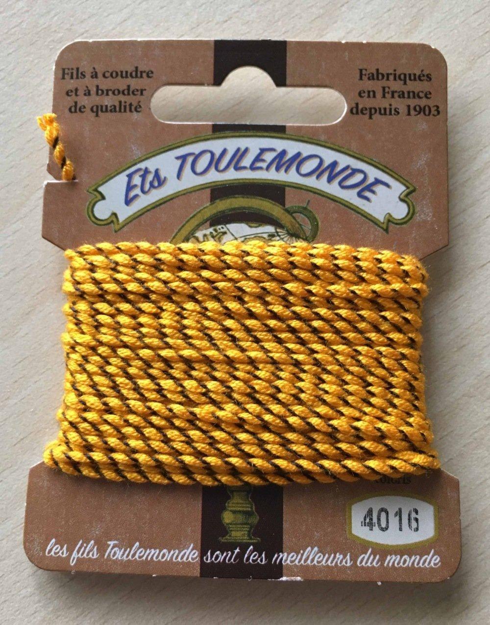 fil cordelette guipé Rochefort 4016 jaune marron