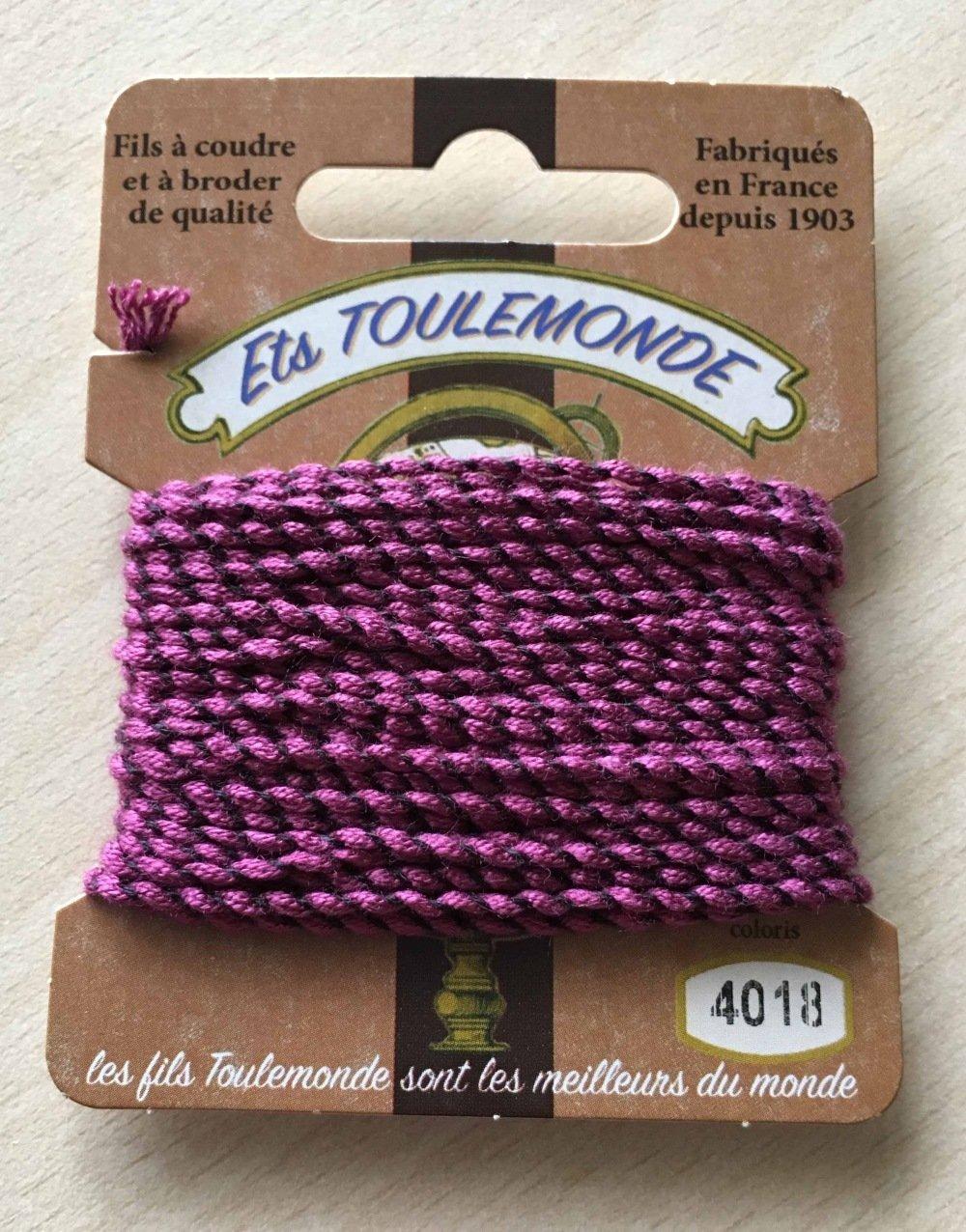 fil cordelette guipé Rochefort 4018 violet marron
