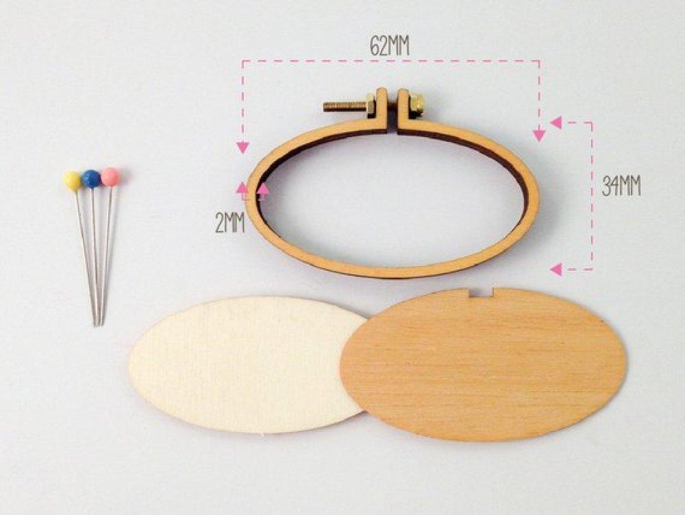 mini tambour ovale 62 x 34 mm