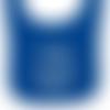 "Bavoir bleu brodé "" team + prénom "" à personnaliser"