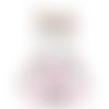 Peluche chouette brodée à personnaliser, cadeau personnalisé doudou bébé naissance