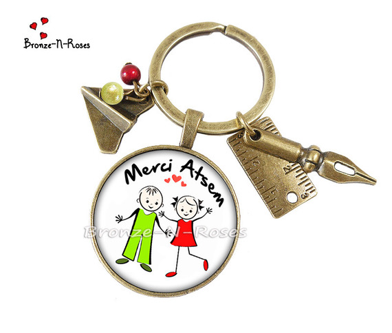 "Bijou de sac "" Super Atsem "" cabochon bijou fantaisie cadeau cadeau enfants"