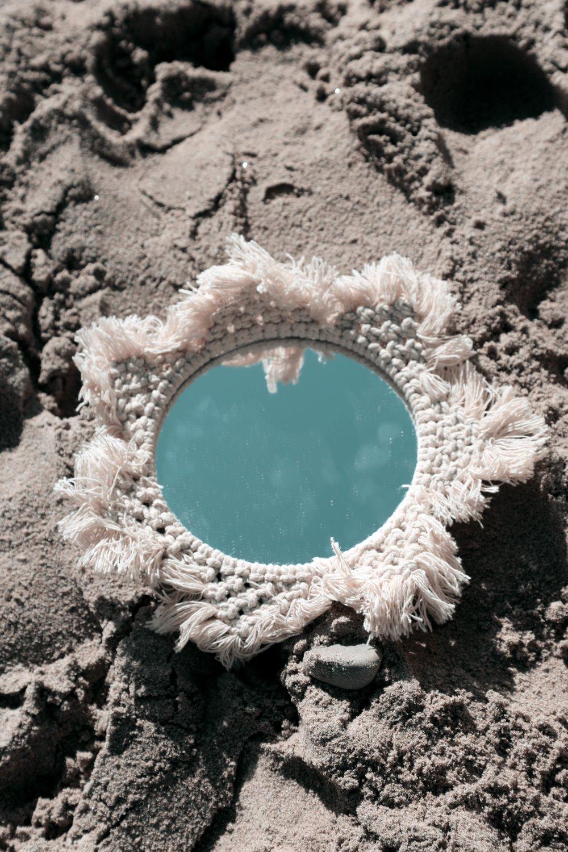 miroir en macramé