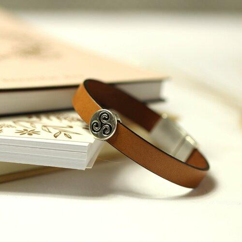bracelet cuir homme triskel