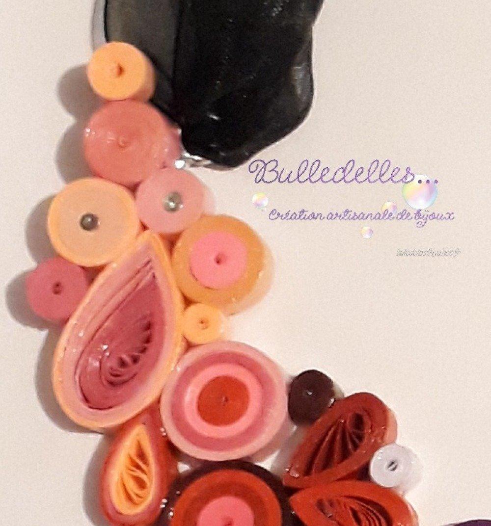 Collier quilling coloré
