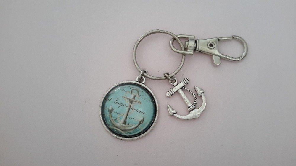 Porte clés ancre marine