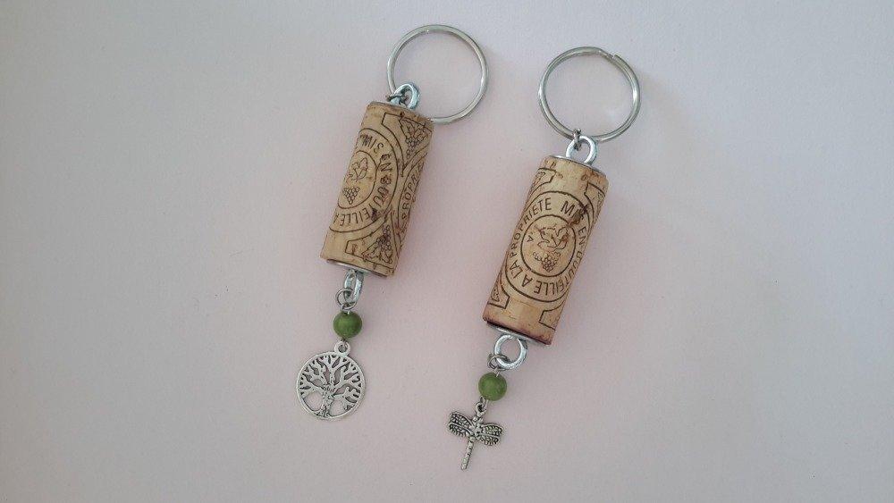 Porte clés bouchon de vin liège