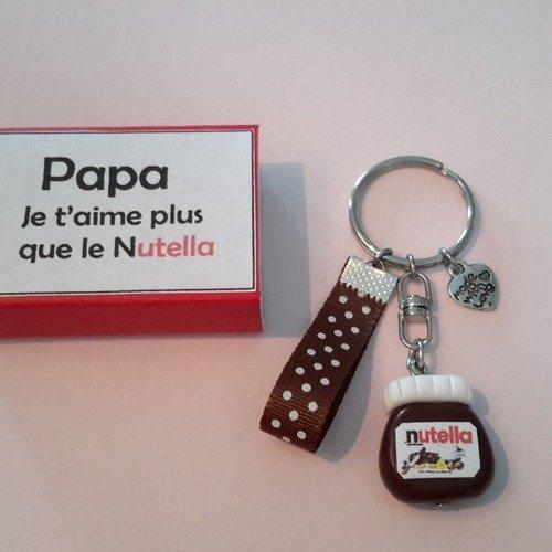 Porte clés papa gourmand
