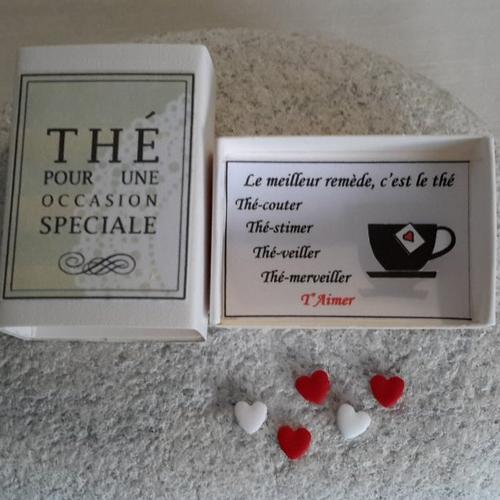 Boîte à bonheur thé message amour amitié