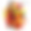 Confettis table pompier, anniversaire enfant, camion rouge, casque, feu, flamme, jaune, noir, orange, fête, retraite, garçon, x100