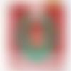 Carte de noël et enveloppe - couronne et cerf