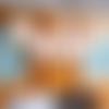 Guirlande bannières en papier - noël - rouge et beige