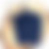 Lot éponges tawashi rectangulaires - bleu marine